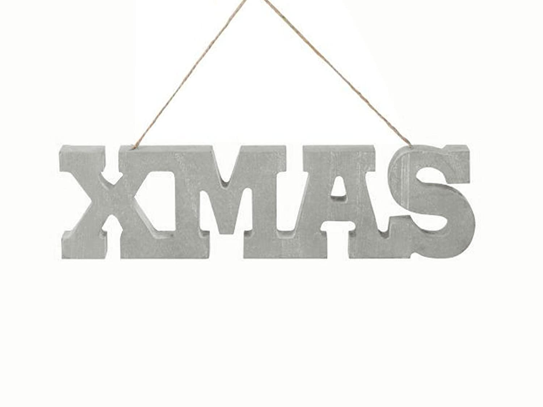 Hänge-Schriftzug Holz Schild XMAS Holz-Buchstaben Deko Weihnachten Shabby
