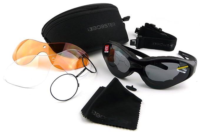 bef8532b2f Bobster Spektrax Motorcycle Goggles Sunglasses - Interchangeable Lenses   Amazon.co.uk  Car   Motorbike