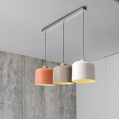 Moderno Diseño Minimalista Colgante de Luz Elegante 3-Luces ...