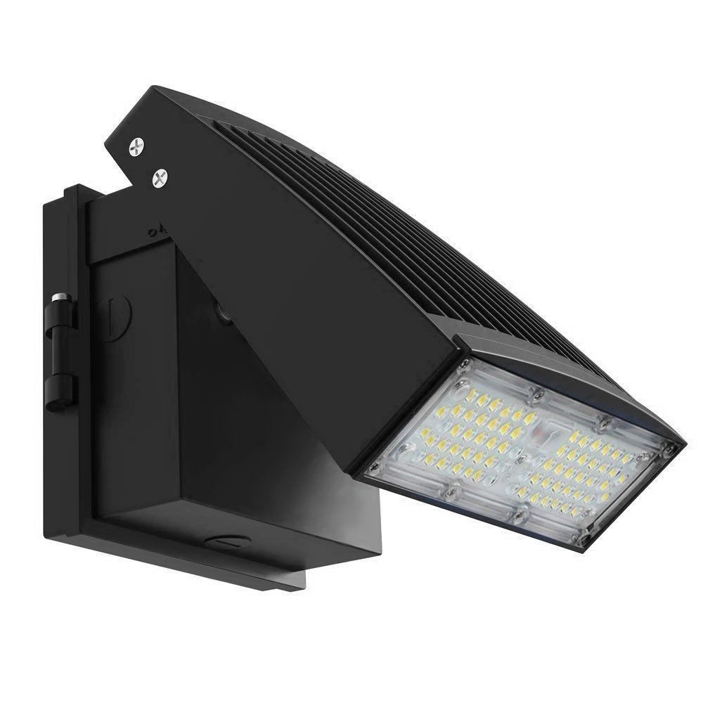 LE 55W LED Wall Pack Light,IP65 Waterproof Outdoor Commercial Lighting Fixture, 5000K Daylight White with 6600LM,100-277V AC 50/60Hz, UL DLC Listed