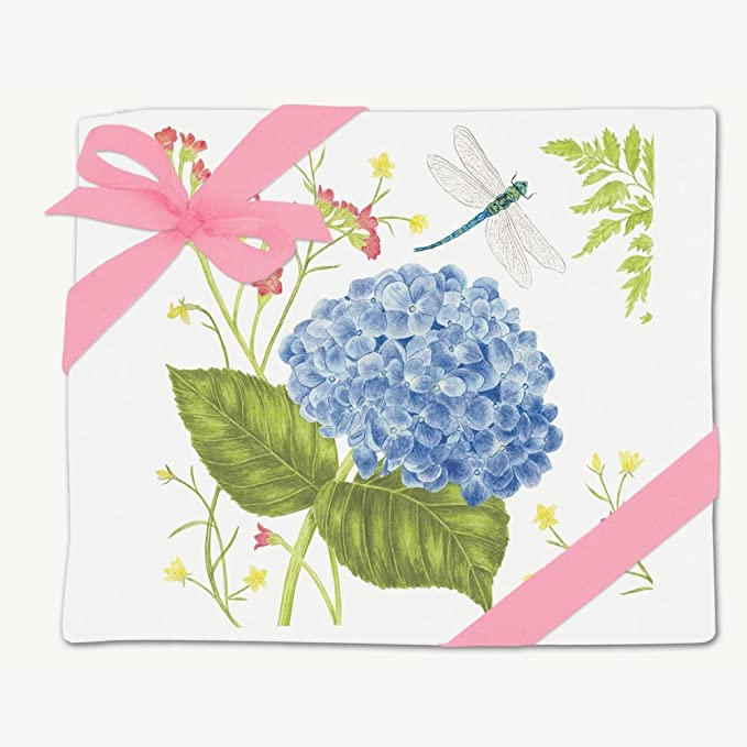Mud Pie Hydrangea Decorative Towel Blue,