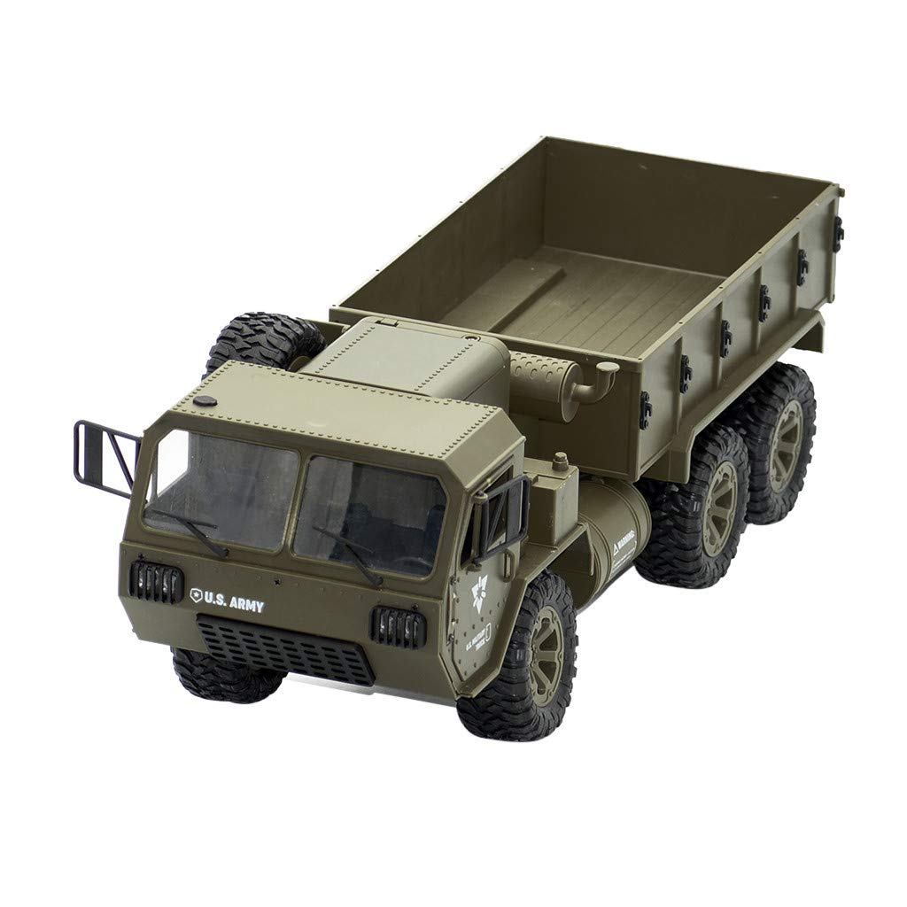 Staron  Remote Control Car, RC Military Truck RC Cars Hobby Toys Off Road Battery Remote Control FY004A 2.4G 1/16 6WD Climbing RC Car (Army Green)