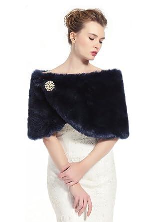 la mejor actitud 6051f f1457 BEAUTELICATE Chal Estola de Pelo Mujer Boleros para Invierno Fiesta Novia  Bodas