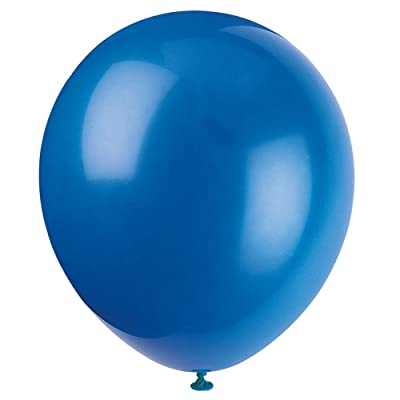 "12"" Latex Royal Blue Balloons, 10ct: Kitchen & Dining"