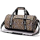 Cheap Sexy Leopard Gym Bag Sports Duffel Bag Barrel Holdall Bag For Travel Gym Sports Bag