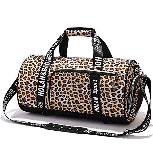 Sexy Leopard Gym Bag Sports Duffel Bag Barrel Holdall Bag For Travel Gym Sports Bag