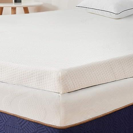 BedStory Colchón Topper Viscoelástico 90x190x5cm, Sobrecolchón Ergonómico con Funda Extraíble, con Esencia de Lavanda, Cubierta de Microfibra, ...
