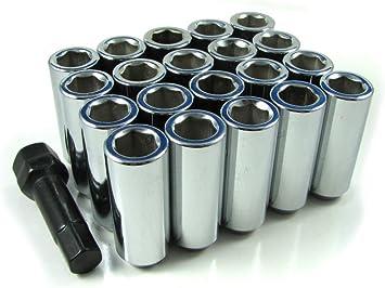 Duplex Spline Drive Acorn 14x1.5 Lug Nut Kit 20 Pc Set with Key