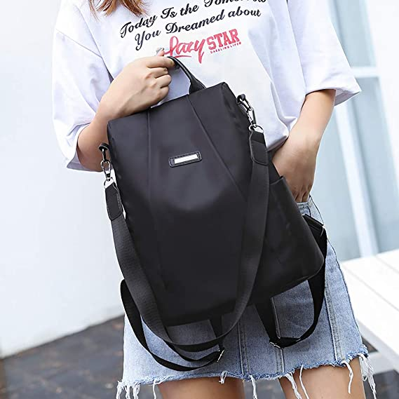 Amazon.com: Fashion Women Girls Shoulder Bag Travel Backpack Purse,Outsta Schoolbag Anti-Theft Oxford Bag (Black): Clothing
