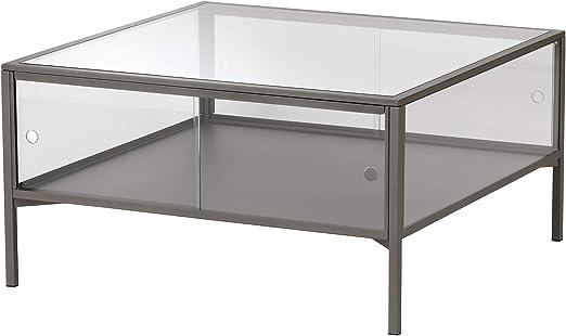 Ikea 204 124 44 Sammanhang Coffee Table Gray Glass Amazon Co Uk Kitchen Home