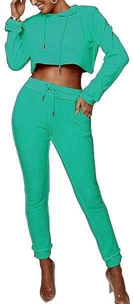 Amazon.com: Trajes de mujer conjuntos de color sólido ...