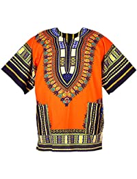 DecoraApparel Men Dashiki Shirt African Blouse Hippie Top