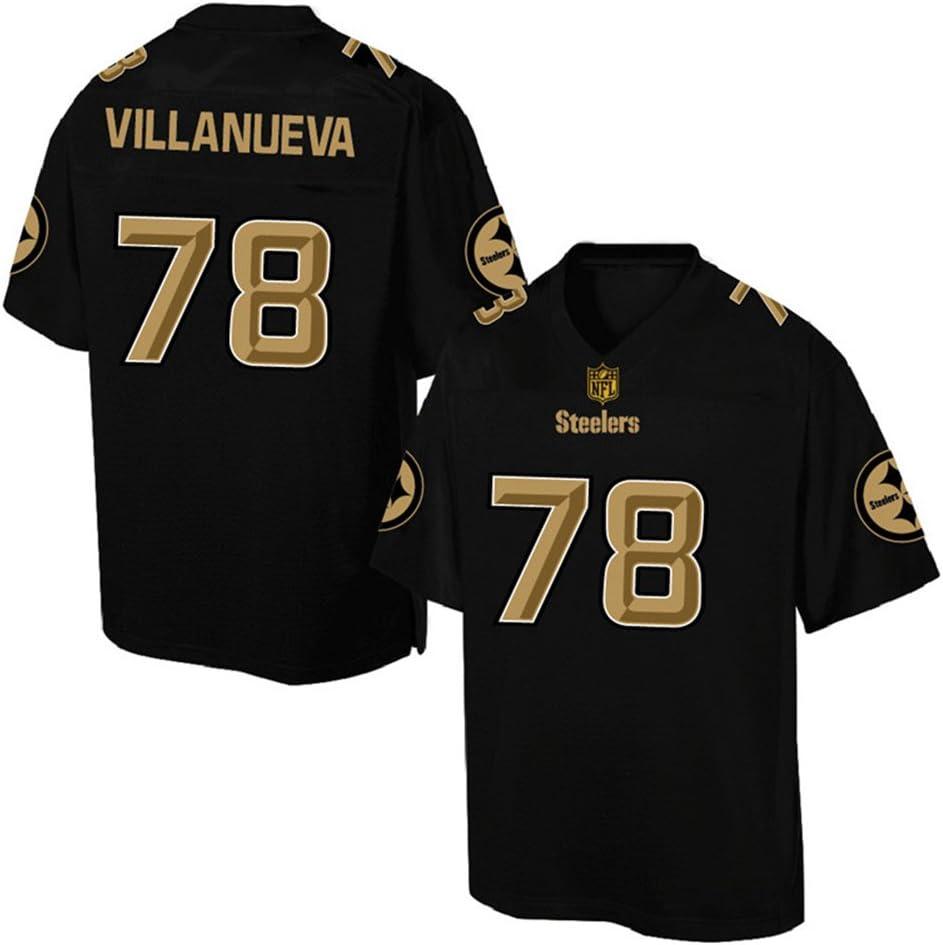 MILEXING Ropa de f/útbol americano al aire libre Alejandro NO.78 Steelers Villanueva 2020 Salute To Service Limited Jersey Transpirable Ropa Deportiva Para Hombre Negro