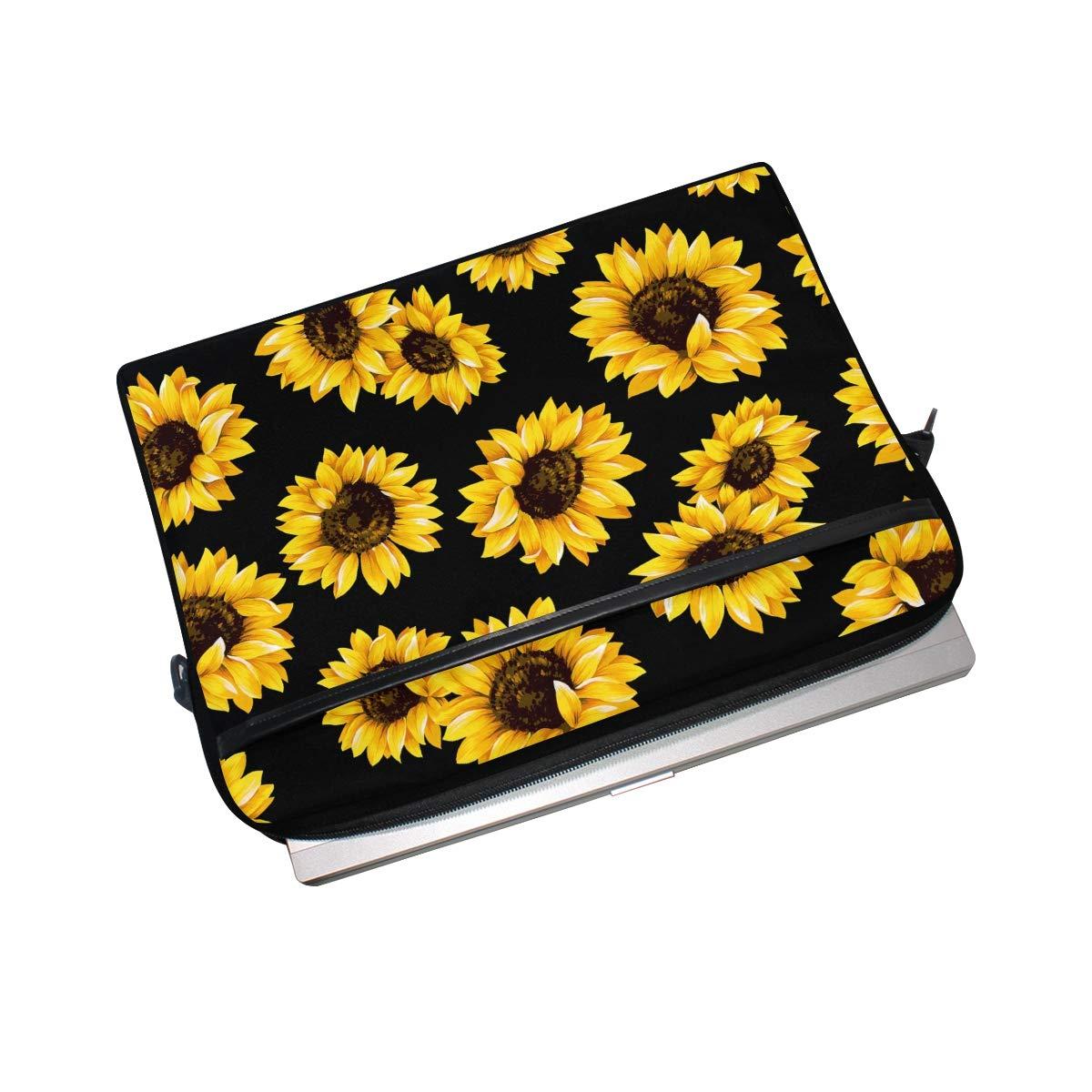 Laptop Bag Sunflower Shoulder Messenger Laptop Case Sleeve Yellow Sunflowers Vintage Briefcase 13//14//15.6 Inch for Men Women