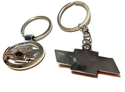 Amazon.com: 2 llaveros Chevy de metal cromado con logotipo ...