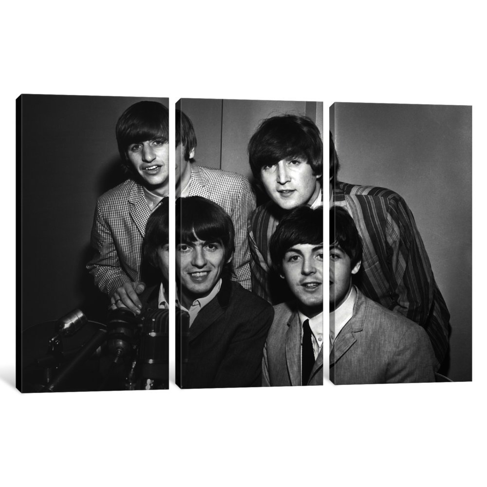 iCanvasART 3 Piece The Beatles #8 Canvas Print by Retro Images Archive 40 x 60 x 1.5-Inch