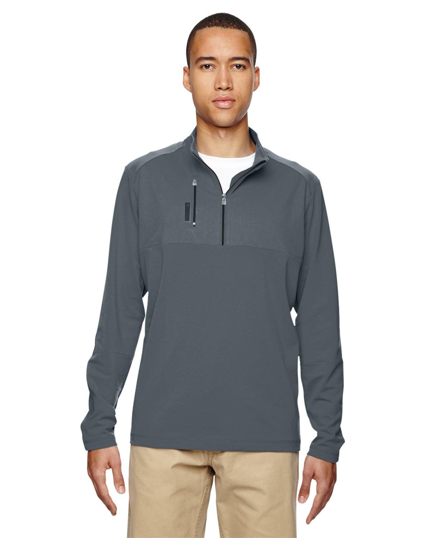 adidas Golf Mens Puremotion Mixed Media Quarter-Zip (A195) -Lead/Black -S