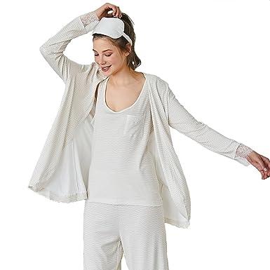 eda208c3b0 LeerKing Ladies Nightwear Pyjama Set Women Nightdress 2 Pieces: Amazon.co.uk:  Clothing
