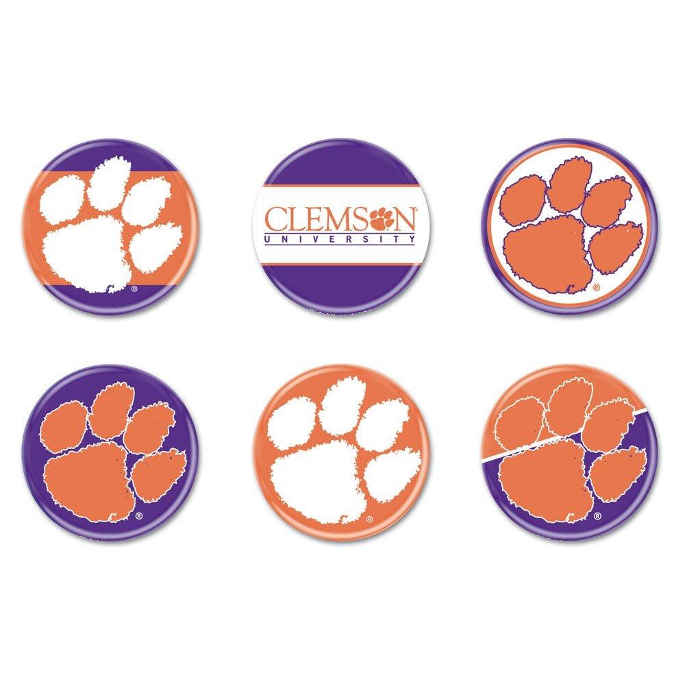 NCAA Clemson University wcr90377010ラウンドボタン6パック B005FHBZHK Clemson University、2
