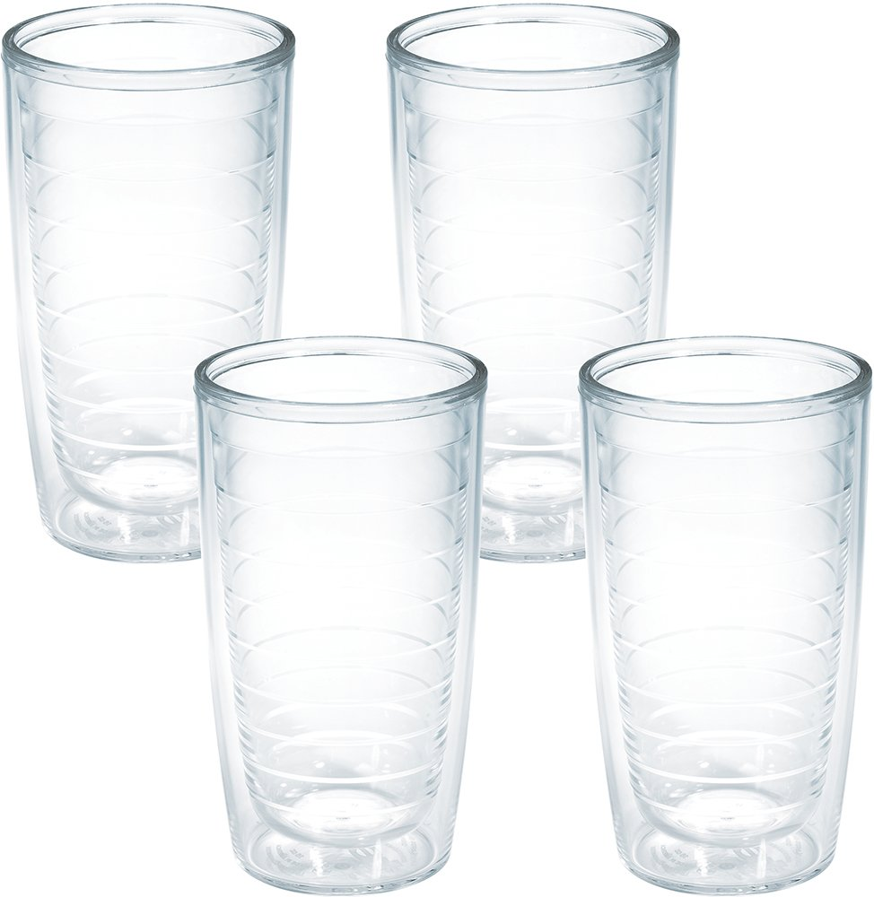 Tervis 4-Pack Tumbler, 16-Ounce, Clear - 1005763 by Tervis