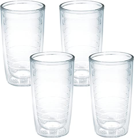 01af4a631c4 Amazon.com | Tervis 4-Pack Tumbler, 16-Ounce, Clear - 1005763: Tumblers &  Water Glasses