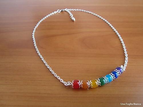 Collar con 7 chakra perlas handmade yoga: Amazon.es: Handmade