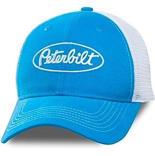 BD&A Peterbilt Motors Trucks Marine Blue & White Sueded ...