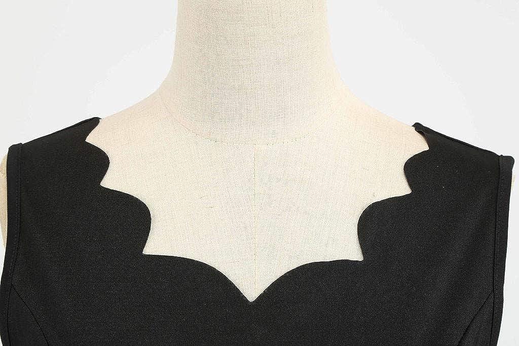 Women Summer Dot Print Dress Vintage Sleeveless Casual Evening Party Prom Dress