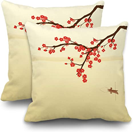 Set of 2 Pillow Covers 18x18 Inch for Home Decor