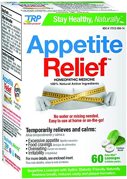 Amazon Com Appetite Relief 60 Polar Mint Lozenges Pack Of 2 Health Personal Care