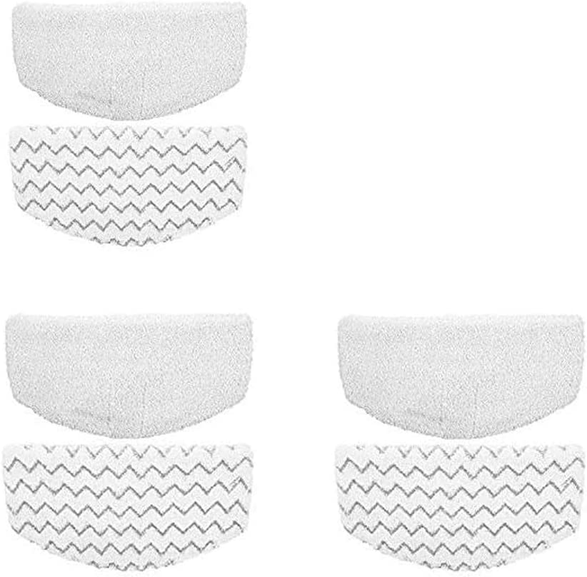 USSJ Reusable Steam Mop Pads Compatible with Bissell PowerFresh 1940 Series Steam Mop,Durable Washable Steam Mop Replacement Pads (6Pcs)