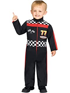 Race car costumes mens, womens, child race car driver costumes.
