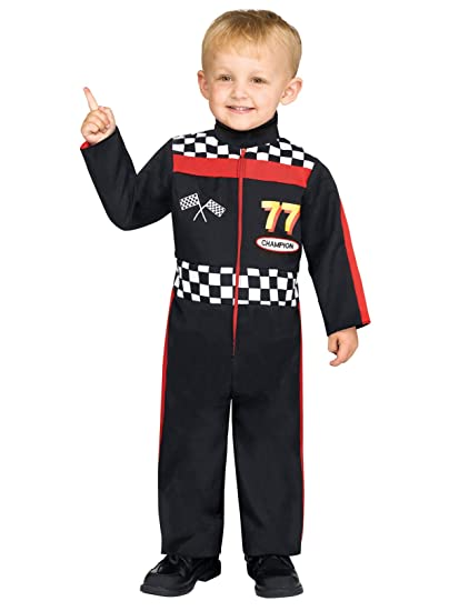 Turbo racer boy's & toddler deluxe race car driver costume.