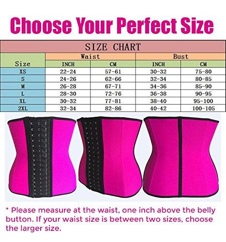 f61fe74e40 Amazon.com  Victoria s Body Shoppe Sexy Pink Skinny Waist Trainer Cincher  Shapewear Corset Girdle Includes  99 Waist Training E-book Guide Free   Sports   ...