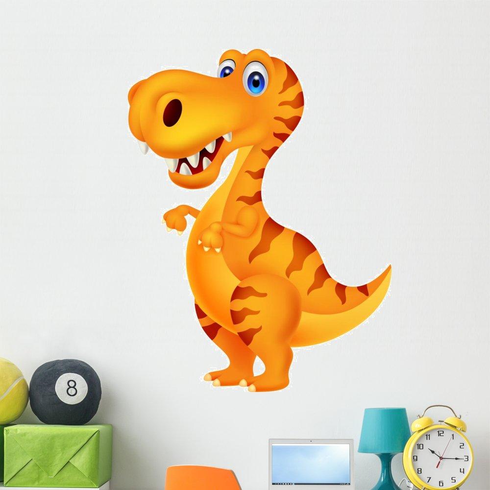 Wallmonkeys Dinosaur Cartoon Wall Decal Peel and Stick Graphic (48 in H x 37 in W) WM21717