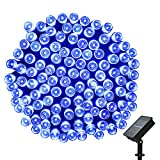easyDecor Solar String Lights 200 LED Waterproof 72ft 8 Modes Solar Powered Christmas String Lights for Outdoor Home Patio Path Party Lawn Garden Wedding Holiday Decoration (Blue) (1)