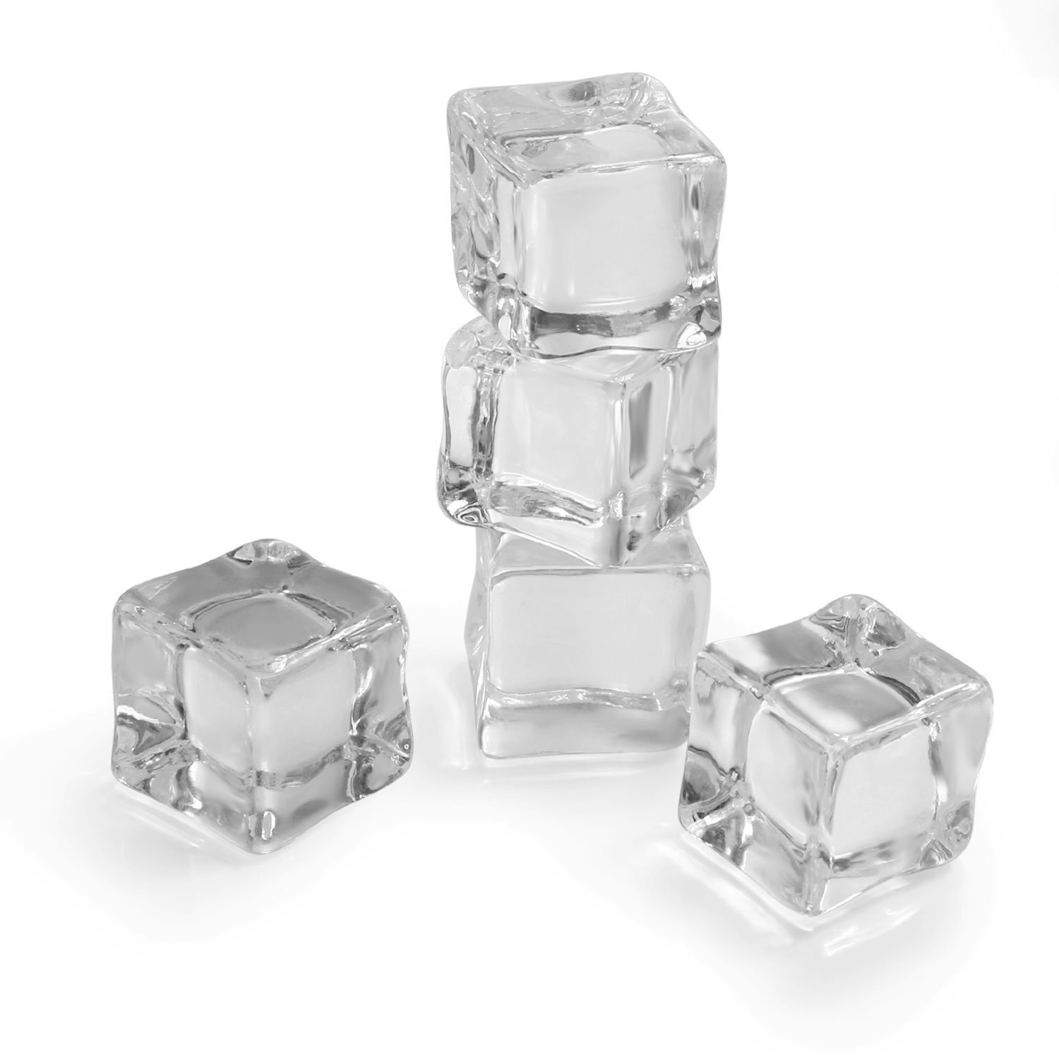 Sorive 24 Counts/Pack Fake Artificial Acrylic Ice Cubes Crystal Clear 1 Inch SRI01807 (1 Inch)