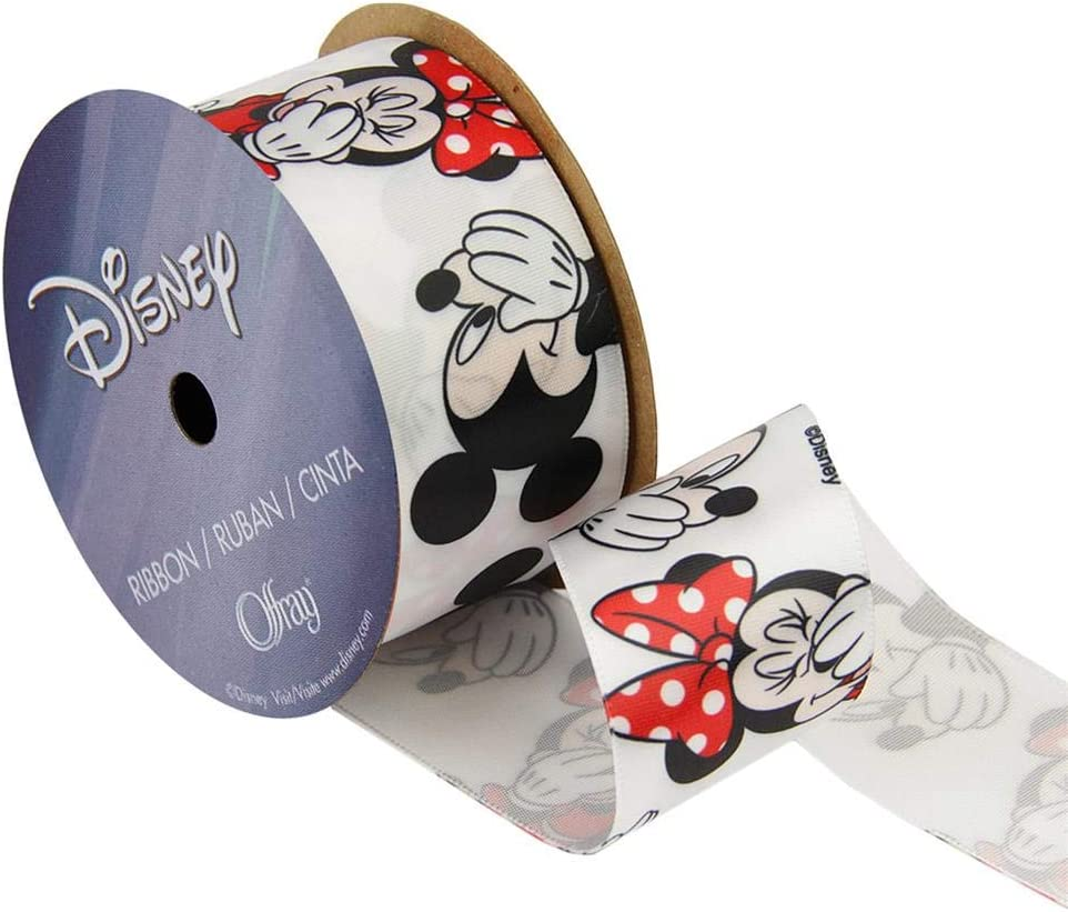 CUTE MINNIE /& MICKEY MOUSE SILHOUETTE GROSGRAIN RIBBON 1 YARD 25mm wide