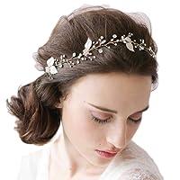 JaneDream The Headdress Of The Manual Diamond Dorgeous Decoration Wedding Leaves Shiny Hair Headband Hair Accessories