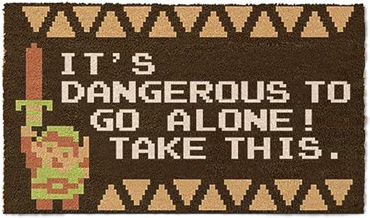 Pyramid America Zelda – It s Dangerous – Doormat, Multi