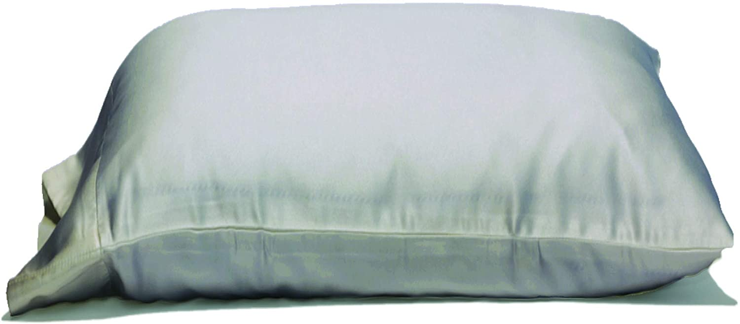 """500TC 100/%Cotton Oversize Pillow Case Queen Extra Large. Silver Solid 22/""""x32/"""""""