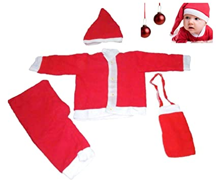 998adc9de Buy Jiada Santa Claus Dress Costume (Red, 0-1 Years) Online at Low Prices  in India - Amazon.in