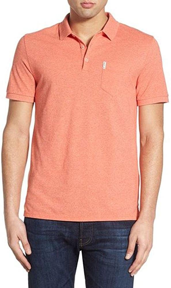 Ben Sherman Mens Solid Polo Shirt with Chest Pocket
