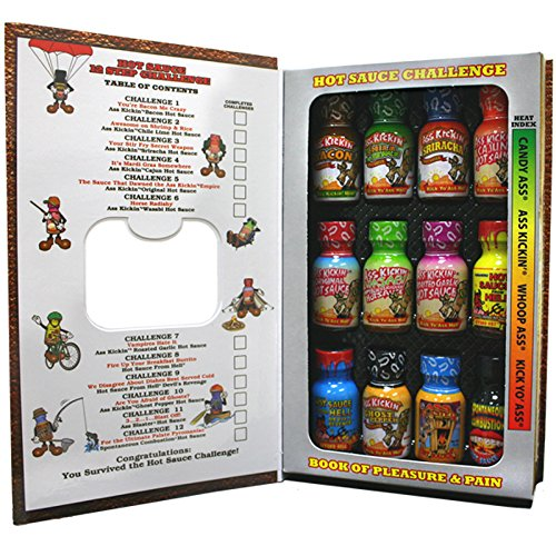 Price comparison product image Ass Kickin Hot Sauce Challenge Book of Pleasure and Pain,  12 Pack
