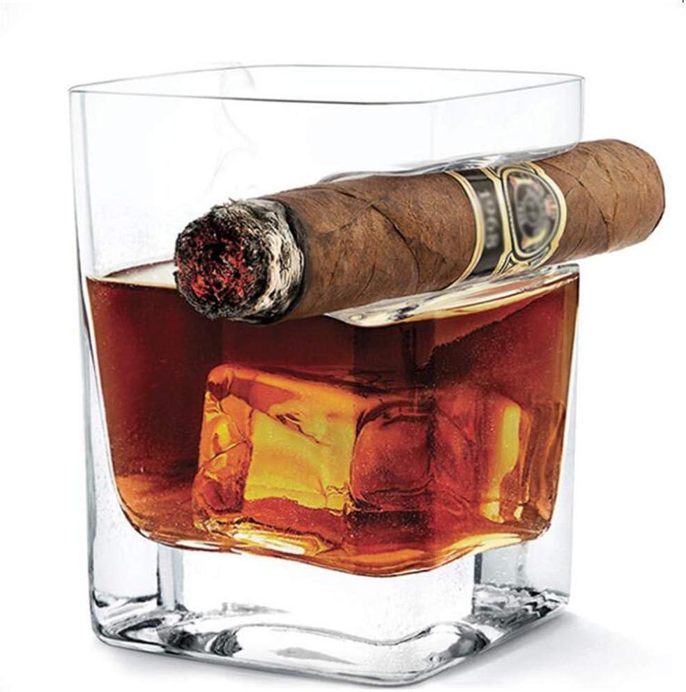 Tumblers Cristal Whisky Vaso, con el Titular de cigarro Juego ...
