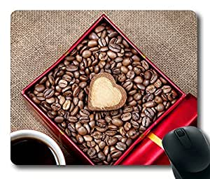 Coffee Heart DIY Masterpiece Limited Design Oblong Mouse Pad by Cases & Mousepads