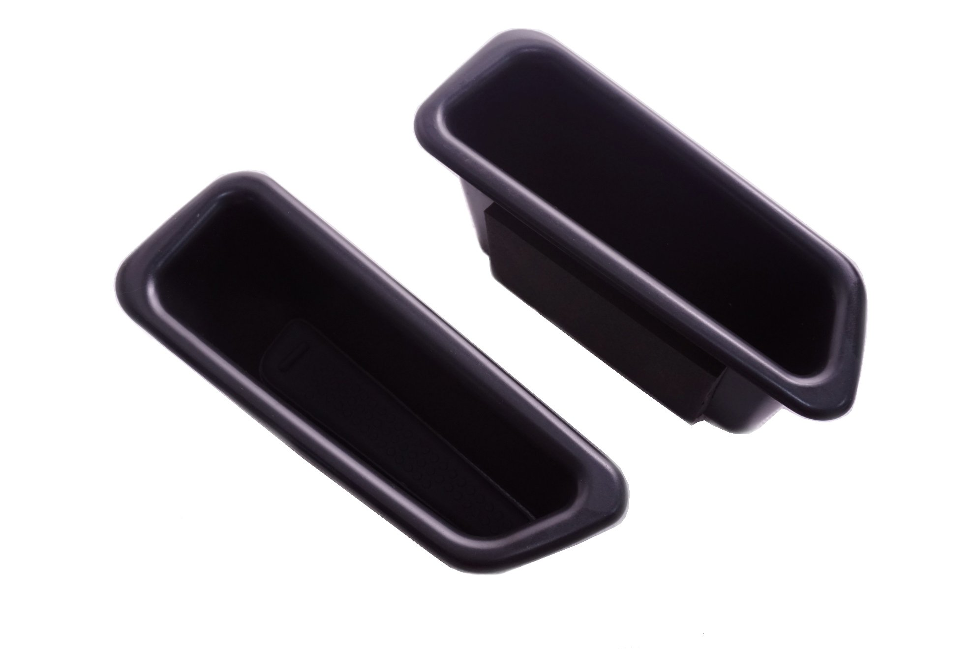 Vesul 2Pcs Black Front Row Door Side Storage Box Handle Armrest Phone Container For Volvo S60 2009-2017 V60 2009-2017 by Vesul
