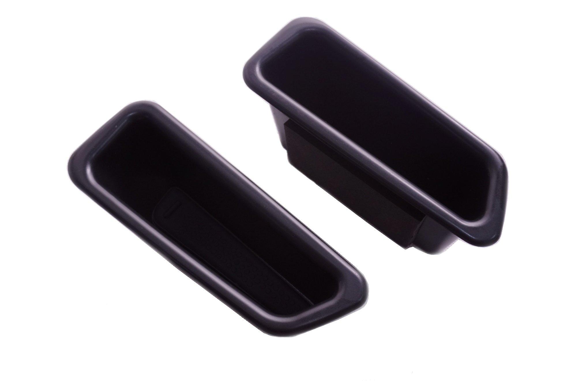 Vesul 2Pcs Black Front Row Door Side Storage Box Handle Armrest Phone Container For Volvo S60 2009-2017 V60 2009-2017