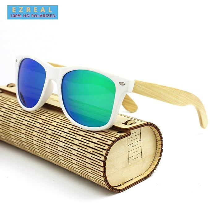 Ezreal madera gafas de sol Hombres Moda Bambú Polarizado Gafas de sol de madera gafas de