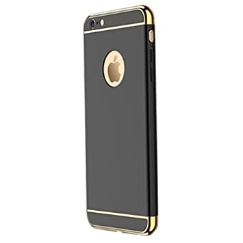 Caler iPhone 6S Plus Carcasa rígida, Antigolpes PC Ultra Slim 3 en 1 Negro antigolpes Carcasa rígida Bumper Cover para iPhone 6 Plus/6S Plus 5,5 ...